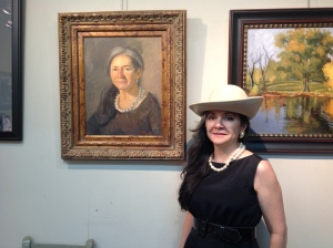 A portrait by Bruce Williamson of artist Lilibeth Andre